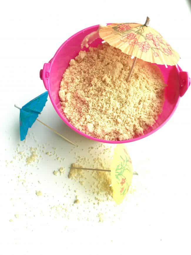 edible sand bucket
