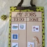 giraffe chore chart 150x150 Show and Share Saturday Link Up!