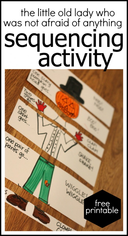 Free Printable Sequencing Activity for the Little Old Lady Who Was Not Afraid of Anything