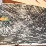 Crayon Resist Spider Web