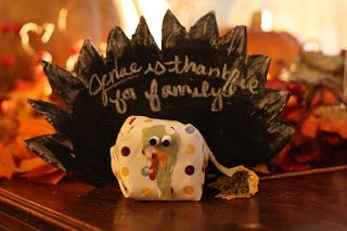 Make It: Chalkboard Turkey Place Card