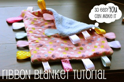 taggie 500x333 Make It: Ribbon Blanket for Baby