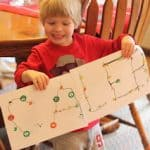 Christmas Sticker Letter Tracing