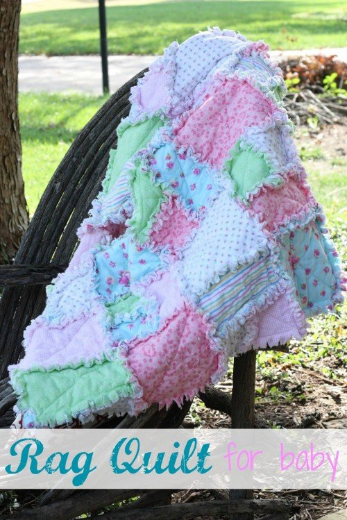 rag quilt 500x749 Make It: Rag Quilt for Baby