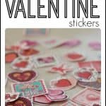Lick and Stick Valentine Stickers made with Jello 150x150 Numbered Heart Game with Dice