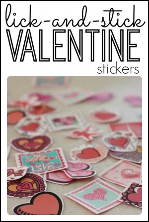 Lick and Stick Valentine Stickers made with Jello 300x445 Lickety Stickety Valentines