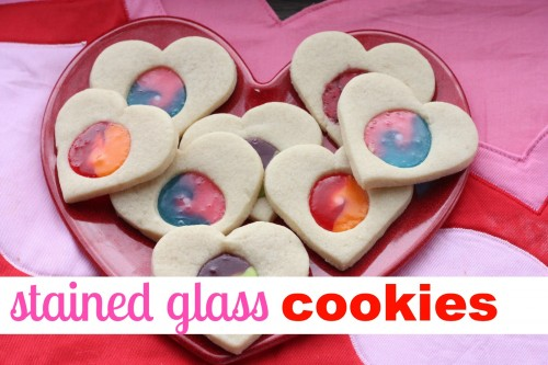 Stained Glass Cookies 500x333 Stained Glass Valentine Cookies