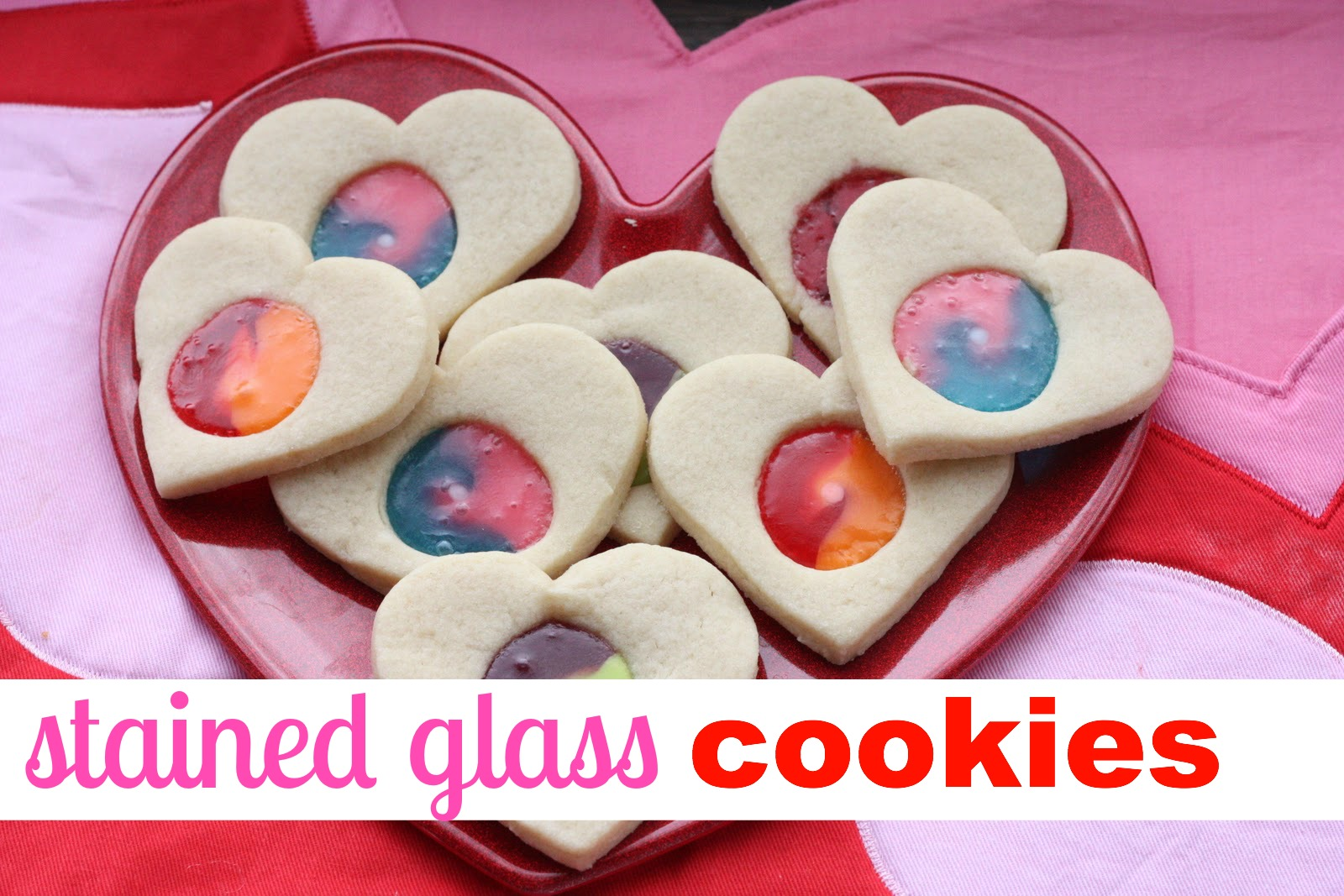 Stained glass valentine cookies i can teach my child for Stained glass cookie recipe