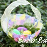 Fabric Collage Easter Baskets