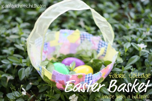 easter basket 500x333 Fabric Collage Easter Baskets