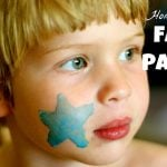 Homemade Face Paint 150x150 Dot Art Flag (free printable)