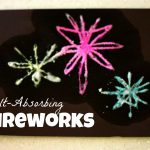 Salt Absorbing Fireworks 150x150 Dot Art Flag (free printable)