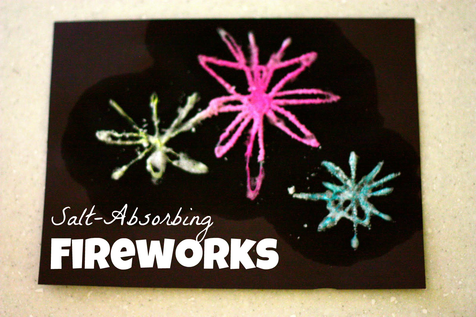 Salt-Absorbing Fireworks!