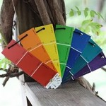 Paint Sample Rainbow Fan 150x150 Colors