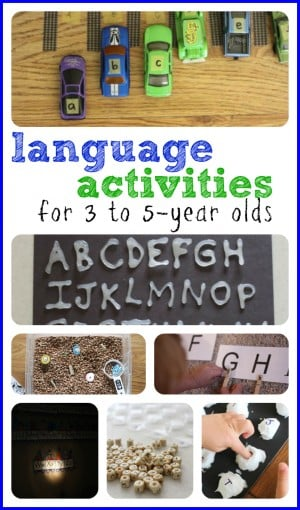 Tons of Language Activities for 3 to 5 year olds!