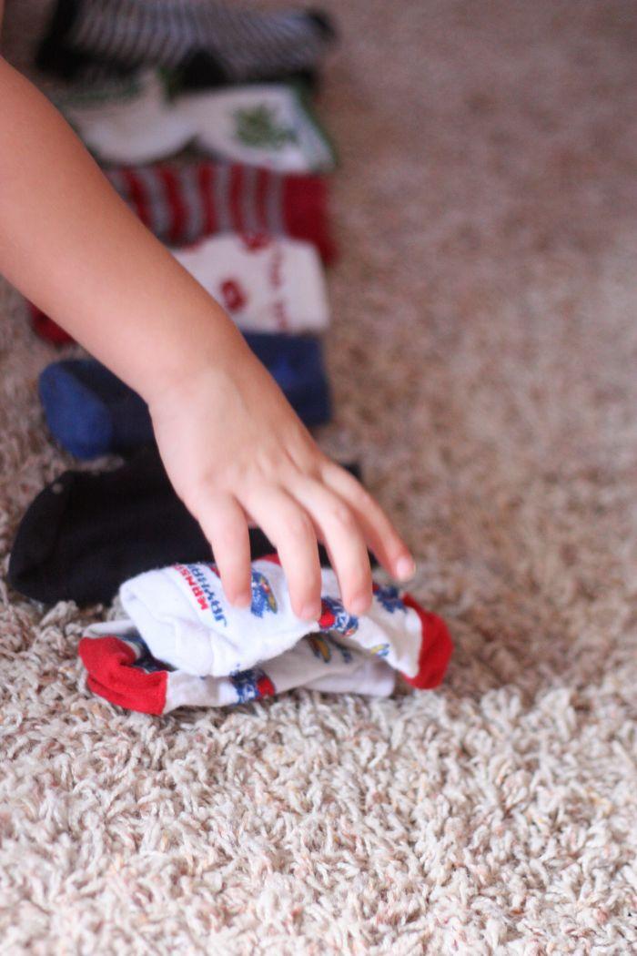 toddler time  matching socks