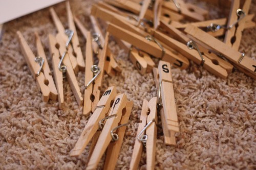 IMG 6472 500x333 Clothespin Capital & Lowercase Matching Activity