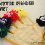 Monster Finger Puppet 150x150 Playdough Monsters