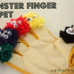 Monster Finger Puppet 150x150 Toilet Paper Roll Book (with pull tabs)
