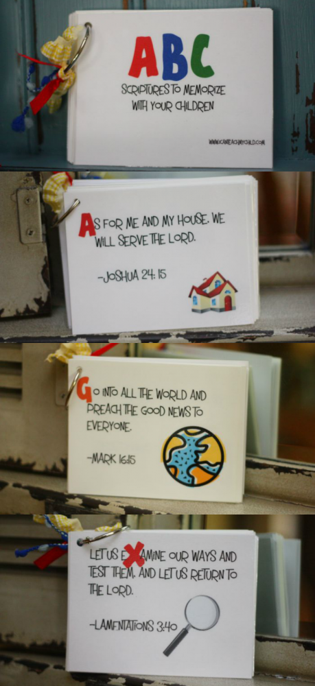 ABC Printable Scripture Cards - I Can Teach My Child!