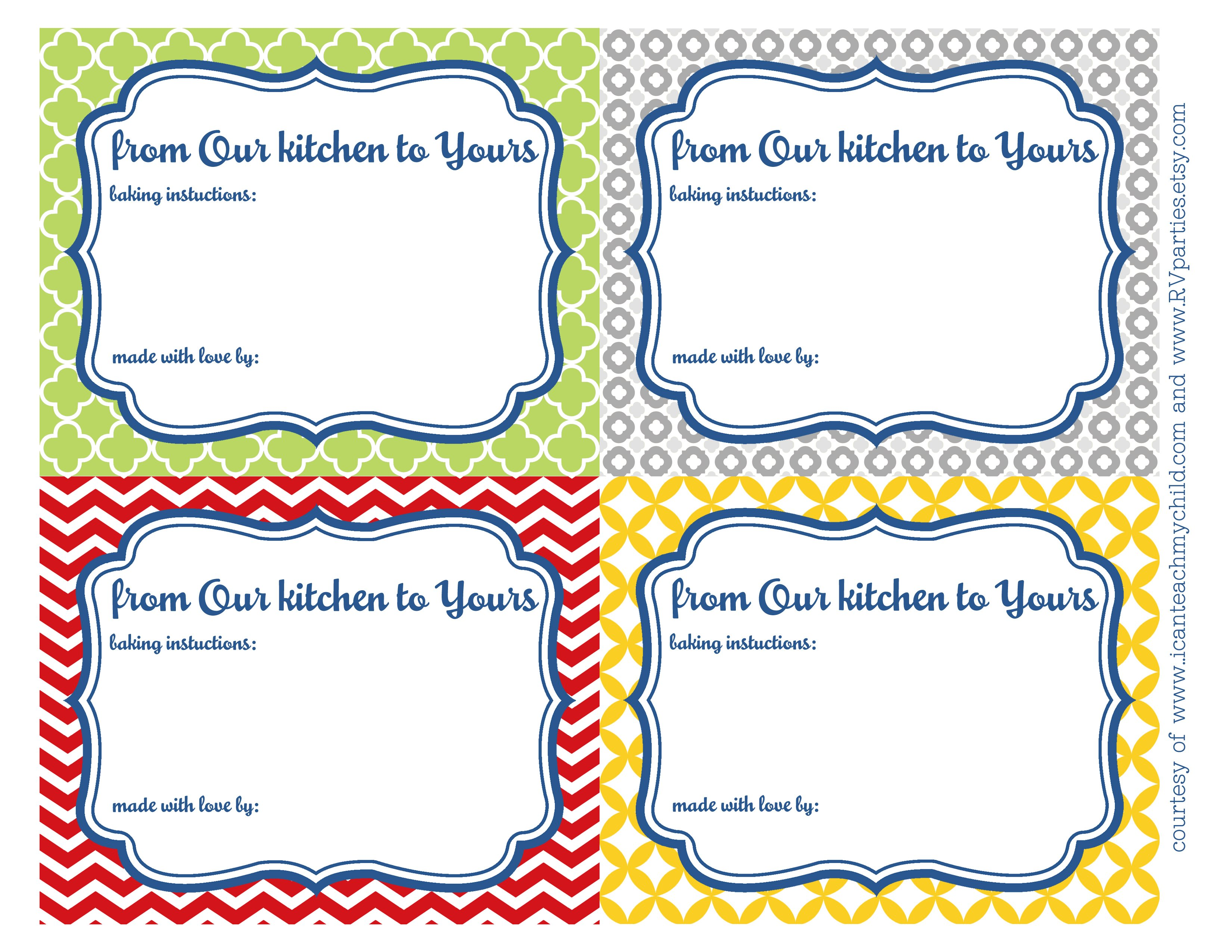 From Our Kitchen to Yours\' Printables - I Can Teach My Child!