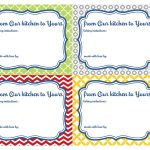 'From Our Kitchen to Yours' Printables