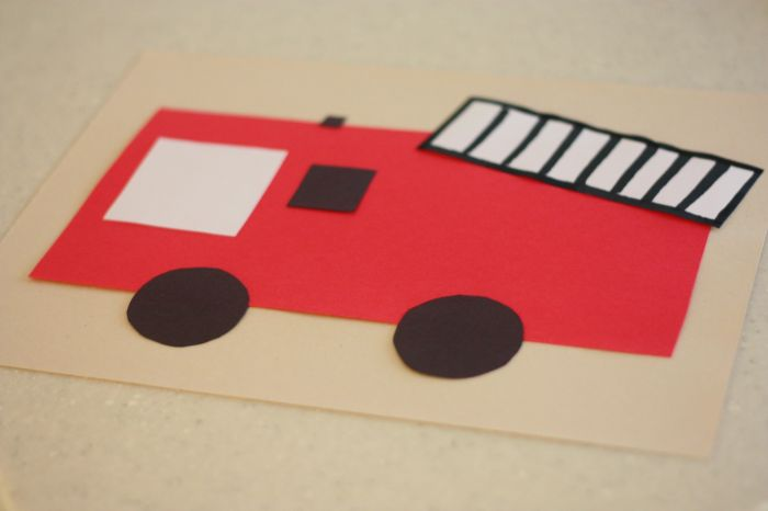 Fire Truck Craft Preschool http://www.icanteachmychild.com/2011/10/shape-fire-engine/