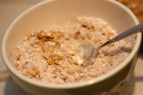 apple crisp - mix dry ingredients together