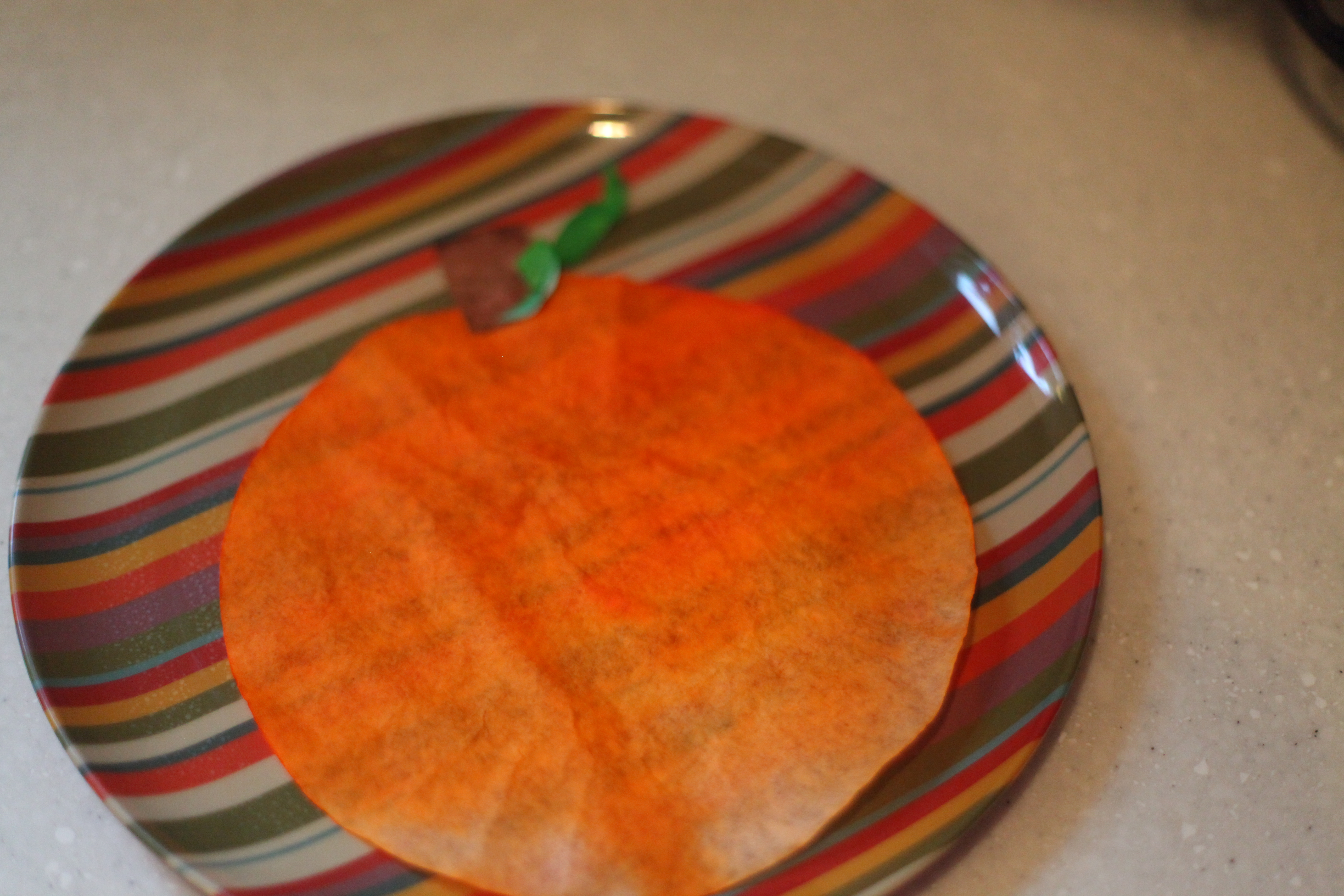 Coffee Filter Stained Glass Pumpkins I Can Teach My Child