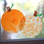 Coffee Filter 'Stained Glass' Pumpkins
