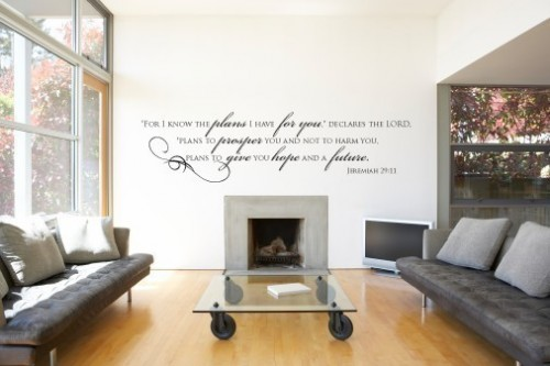 jeremiah 29 11 500x333 Urbanwalls Vinyl Wall Decals:  Product Review and Giveaway