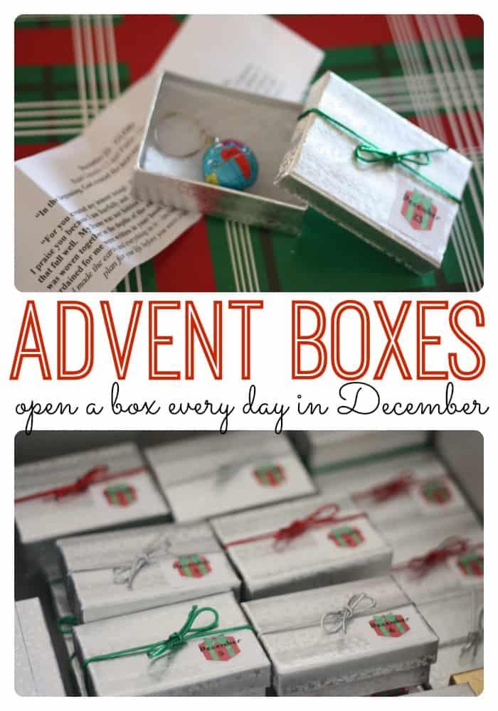 Infant Calendar Ideas : Advent boxes i can teach my child