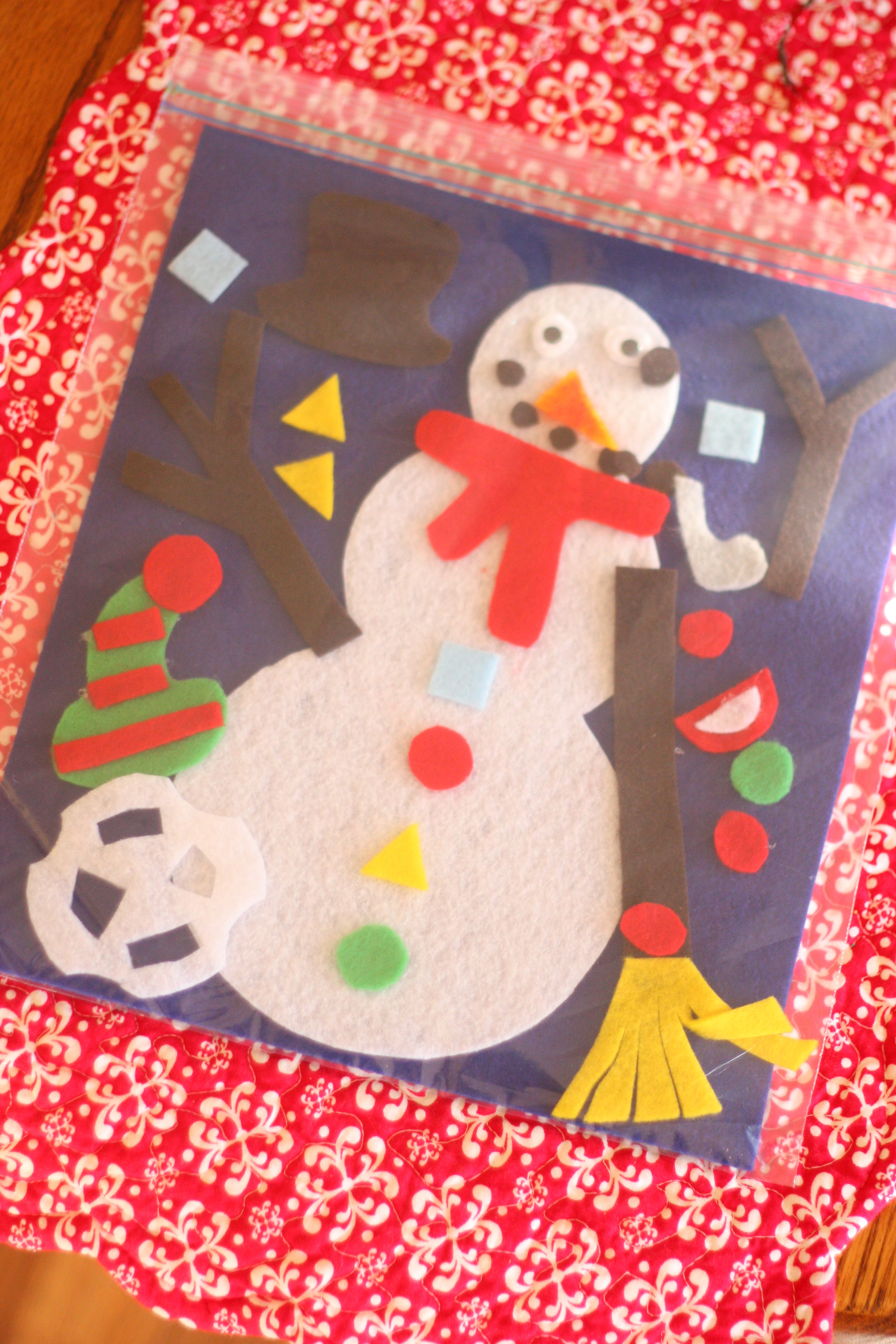 build your own snowman in a bag i can teach my child