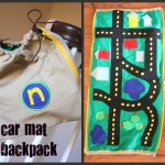 car mat collage 150x150 Burlap and Branches Tic Tac Toe Game in a Bag
