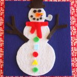snowman 150x150 Cookie Sheet Travel Activity:  Magnetic Sandpaper and Yarn