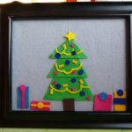 Sent in by You:  Picture Frame Felt Christmas Tree