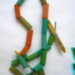 Preschoolers and Toddlers Learning Together: Pasta Snakes