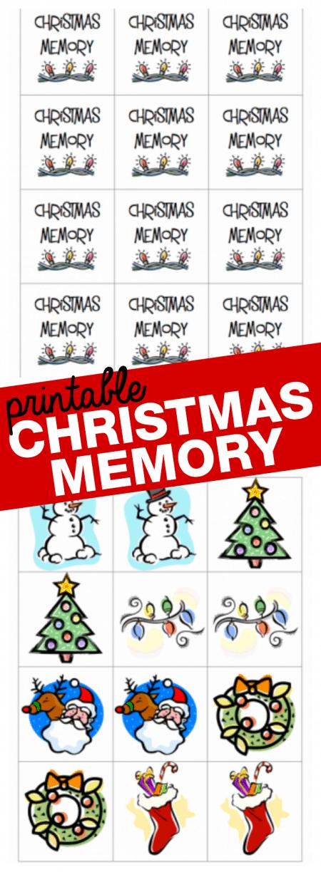 Printable Christmas Memory