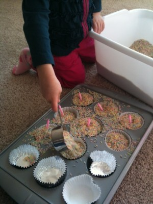 cupcake sensory tub 300x400 Show and Share Saturday Link Up!