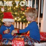 thank you 150x150 Operation Christmas Child Packing Party Invitations