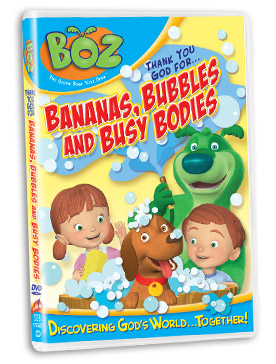 Bananas Bubbles Boz the Bear Prize Packs:  Product Review & Giveaway (5 winners)