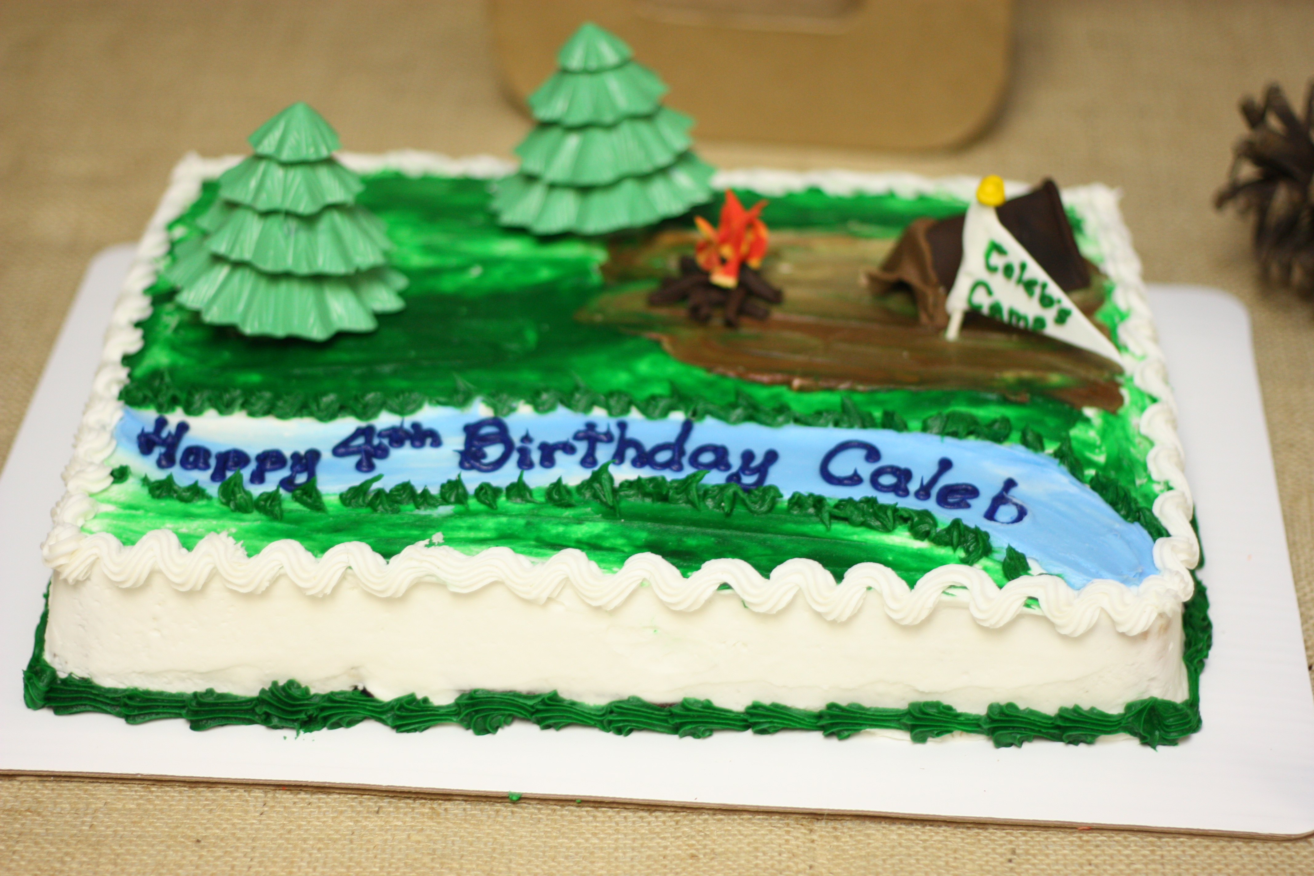 Birthday Cake With Name Zoya ~ Camping birthday party i can teach my child!