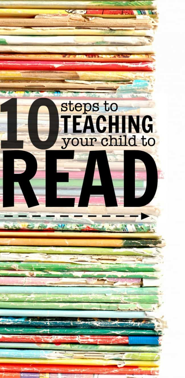 How To Teach A Child to Read In 10 Easy Steps - I Can Teach My Child!