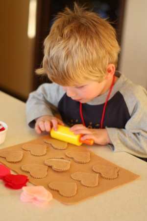 IMG 0625 300x450 Pretend Play:  Valentine Cookie Bakery