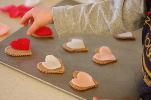 IMG 0631 500x333 Pretend Play:  Valentine Cookie Bakery
