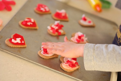 IMG 0634 500x333 Pretend Play:  Valentine Cookie Bakery