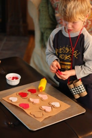 IMG 0645 300x450 Pretend Play:  Valentine Cookie Bakery