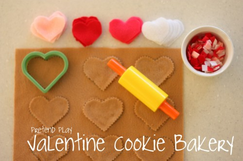 cookiebakery 500x333 Pretend Play:  Valentine Cookie Bakery