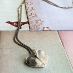 Valentines Giveaway:  Love Duo Fingerprint Heart Necklace from Tina Steinberg