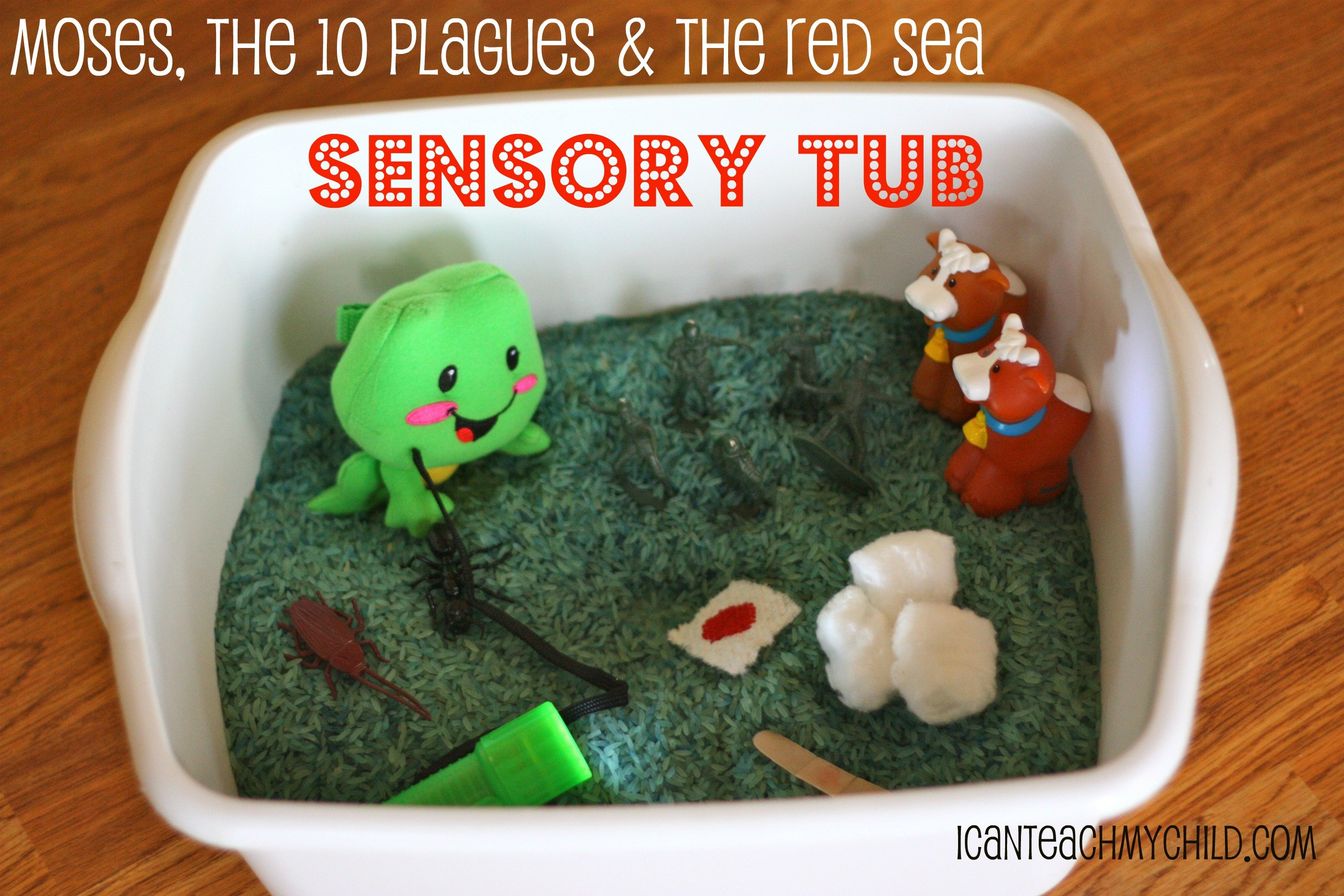 bible based sensory tub moses the plagues u0026 and the red sea i